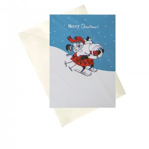 MOOMX2 Card - Moomin Merry Christmas blue