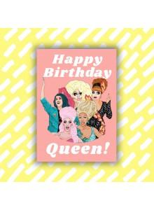 """Поздравителна картичка """"Честит рожден ден, Кралице"""""""