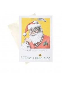 """Поздравителна картичка """"Санта Моника и Весела Коледа"""""""