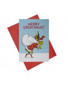 """Поздравителна картичка """"Весела Гринч Коледа"""""""