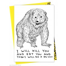 Поздравителна Картичка Kill You Eat You and Big Shit David Shrigley