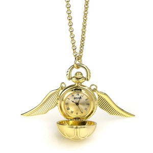 WNTP004 Harry Potter Watch Necklace - Golden Snitch