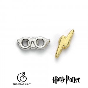 WE0176 Harry Potter Lightning Bolt and Glasses Earrings