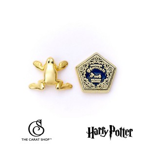 WES0157 Harry Potter Chocolate Frog and Box Gold Plated Earrings обеци