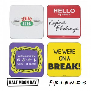 Set of 4 Coasters Friends Quotes CST4FDS01