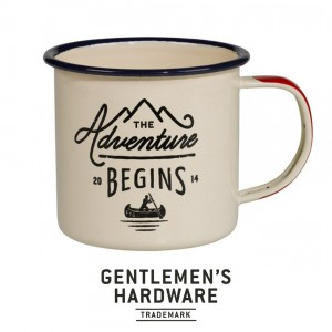 Enamel Mug The Adventures Begins White GEN025