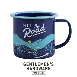 Blue Bicycle Enamel Mug GEN322