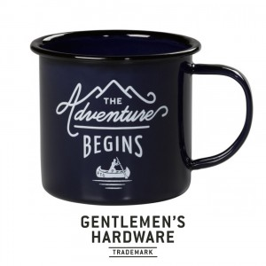 Enamel Mug The Adventures Begins Blue GEN082