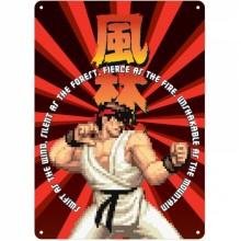 SSA5CC01 Малка Метална Табела Street Fighter Ryu