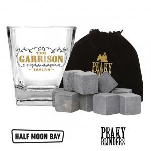 GLSTPB01 Drinking Glass and Stones Set - Peaky Blinders Garrison