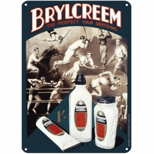 SSA3OP10 Tin Sign Large - Brylcreem