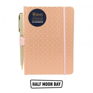 NBA6RHS02 A6 Notebook with Pen - RHS Geo Coral