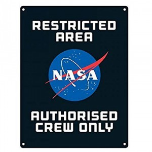 Metal sign NASA