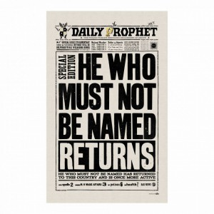 Tea Towel The Daily Prophet - He Who Must Not be Named Returns
