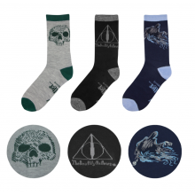 Deathly Hallows Socks Set of 3 Harry Potter