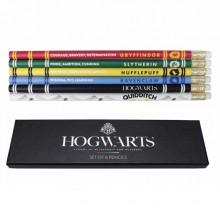 Set of 6 Pencils - Harry Potter Hogwarts House Pride