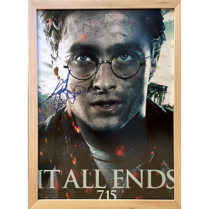 Photograph with Signature by Daniel Radcliffe | Harry Potter and the Deathly Hallows: Part 1