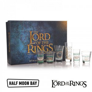 GLSSLOTR01 Glass Boxed 100ml Set of 6 - Lord of The Rings