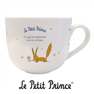 BOLG07G01 Bowl - Le Petit Prince fox and rose