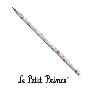 CRPA07G01 Pencil - Le Petit Prince white and flowers