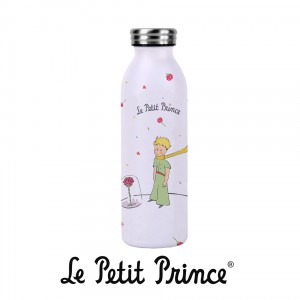 BOUTH26Z04 Water Bottle - Le Petit Prince Rose white