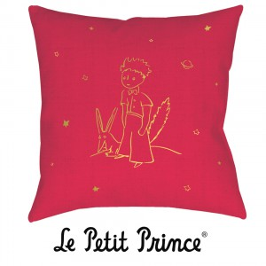 COUG07G03 Cushion 40x40 - Le Petit Prince white and red