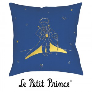 COUG07G02 Cushion 40x40 - Le Petit Prince white and blue