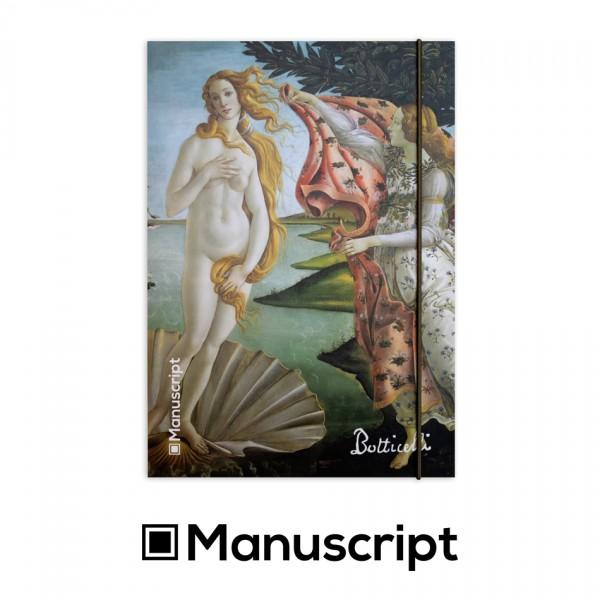 """Manuscript - 160 стр. Bullet Journal скицник А5 - """"Раждането на Венера"""" - Сандро Ботичели 1"""