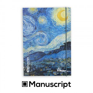 "160 стр. Bullet Journal скицник А5 - ""Звездна нощ"" - Винсент ван Гог"