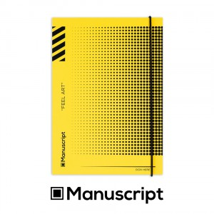 Sketchbook Manuscript A5 160  dotted grid pages - Off-Yellow Dot Plus