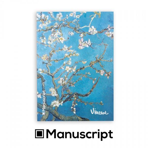 "Manuscript - 80 стр. Bullet Journal скицник А5 - ""Бадемови цветове"" - Винсент ван Гог 1"