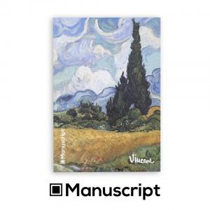 "80 стр. Bullet Journal скицник А5 - ""Кипариси"" - Винсент ван Гог"