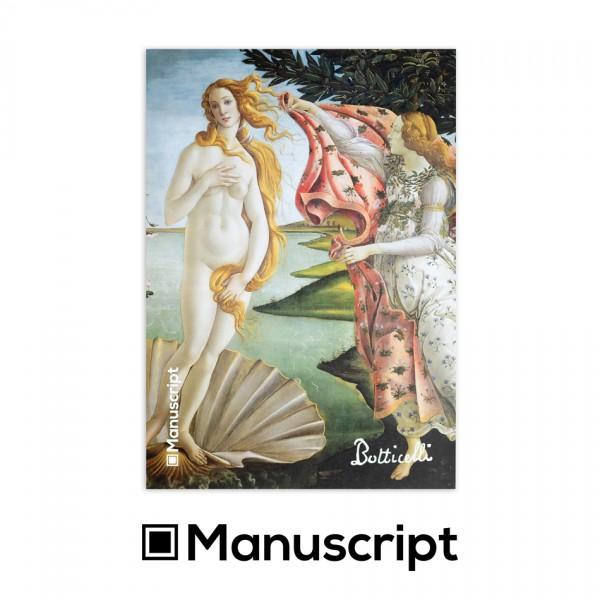 """Manuscript - 80 стр. Bullet Journal скицник А5 - """"Раждането на Венера"""" - Сандро Ботичели 1"""