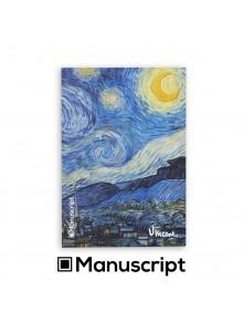 "80 стр. Bullet Journal скицник А5 - ""Звездна нощ"" - Винсент ван Гог"