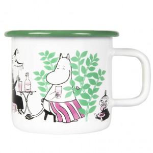 Enamel Mug Moomin Day in the Garden 370 ml.