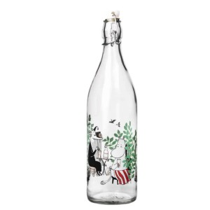 Glass Bottle Moomin Day in the Garden 1L