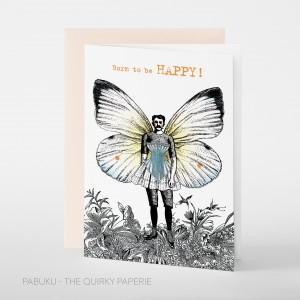 Greeting Card Born to be Happy