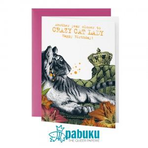Поздравителна Картичка Crazy Cat Lady Честит Рожден Ден