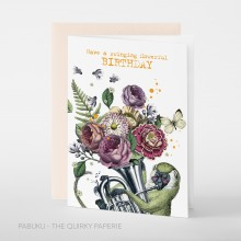 Поздравителна Картичка Flowerful Birthday