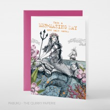 Поздравителна Картичка Have a Mer-Mazing Day