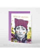 Поздравителна Картичка Knit It Sister