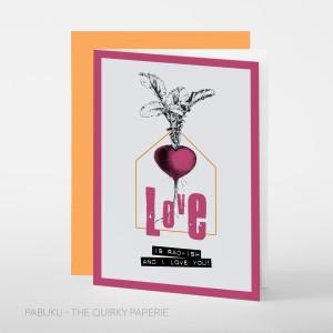 Поздравителна Картичка Love is Rad-ish