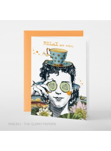 Greeting Card Relax and Enjoy