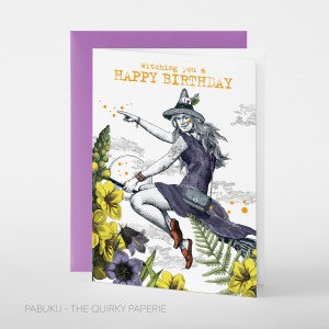Greeting Card Witching You a Happy Birthday