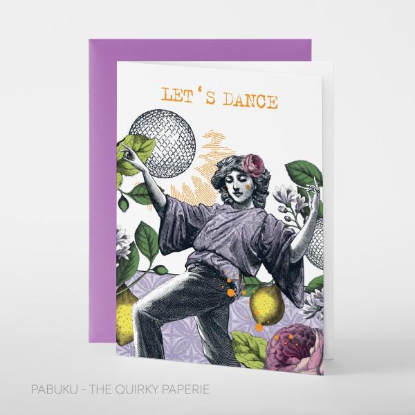 """Pabuku Cards - Поздравителна картичка """"Хайде да танцуваме"""" 1"""