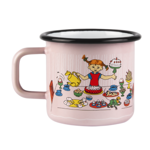Enamel Espresso Mug Pippi Birthday 370 ml.