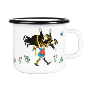 Enamel Espresso Mug Pippi and the Police 250 ml.