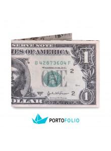 """Тънко портмоне от хартия """"Долар"""""""
