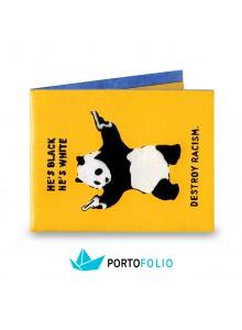"""Тънко портмоне от хартия """"Панда"""""""