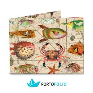 """Тънко портмоне от хартия """"Риби"""""""